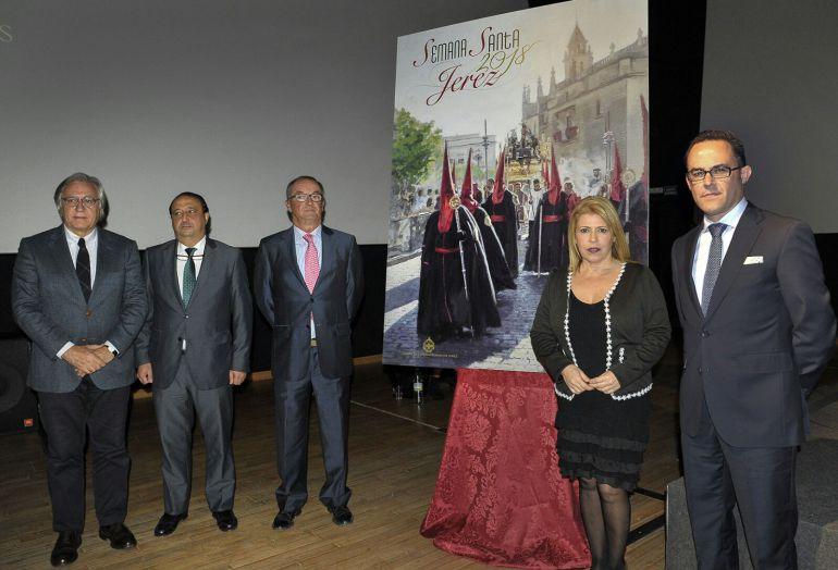 Imagen de la presentación del cartel de la Semana Santa de Jerez 2018