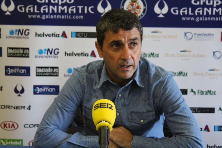 Pepe Masegosa durante la rueda de prensa el viernes