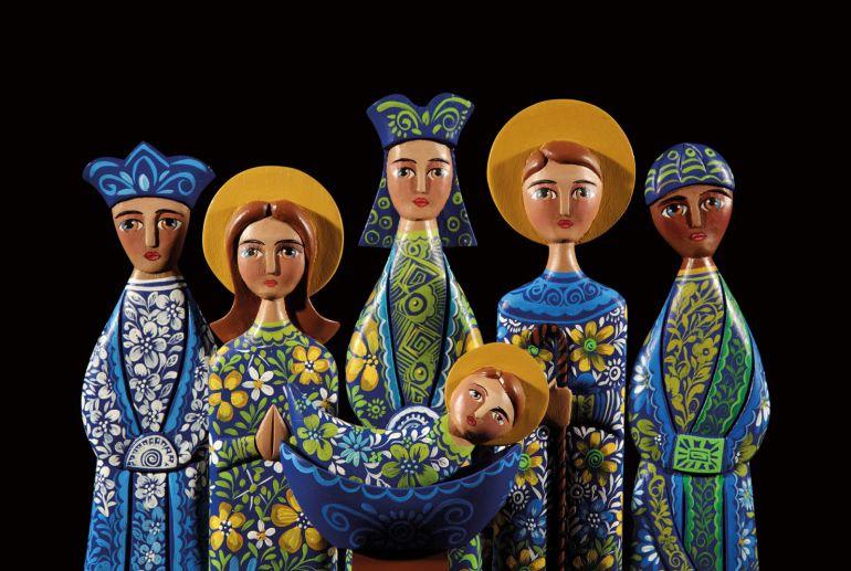 Una obra de la pintora local Aurea Mayordomo, pieza del mes en el Museo de Sta. Clara de Carrión