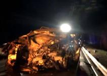 Tres fallecidos en una colisión frontal en la A-8, a la altura de Caviedes