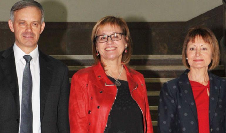 Vicent Martínez, Mª Antonia García-Bernau, y Mavi Mestre, candidatos a Rectorado Universitat de València, 2018
