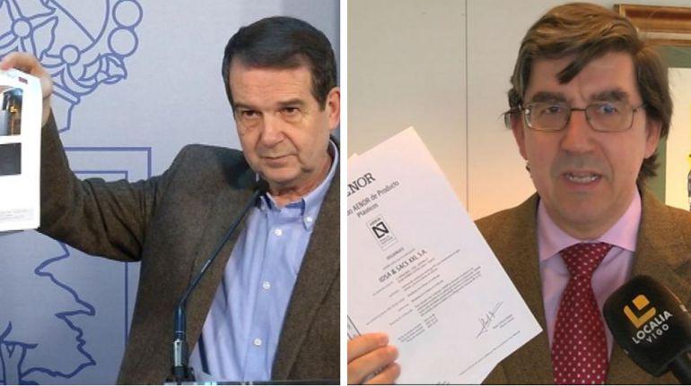 Abel Caballero, alcalde de Vigo, e Ignacio López-Chaves, delegado de la Xunta en Vigo.