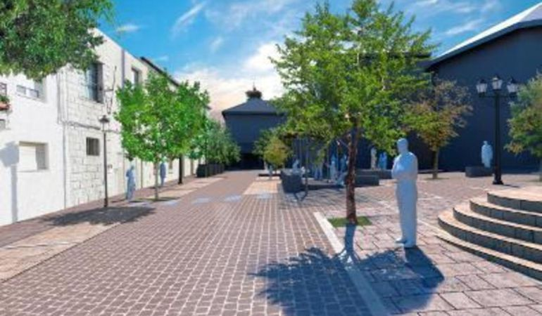 Imagen del proyecto de la plaza de la Constitución