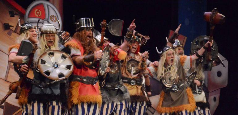 Los de Cádiz Norte, en su actuación en el Carnaval de Cádiz 2017