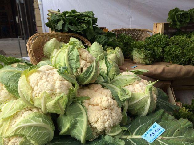 Verduras en el Ecomercado