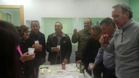 Antonio Sánchez (primero por la derecha) en una jornada de convivencia el pasado 30 d e diciembre