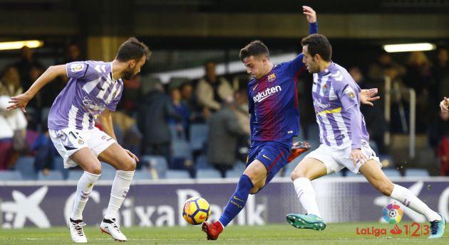 Un práctico Real Valladolid gana en Barcelona: Prácticos y efectivos