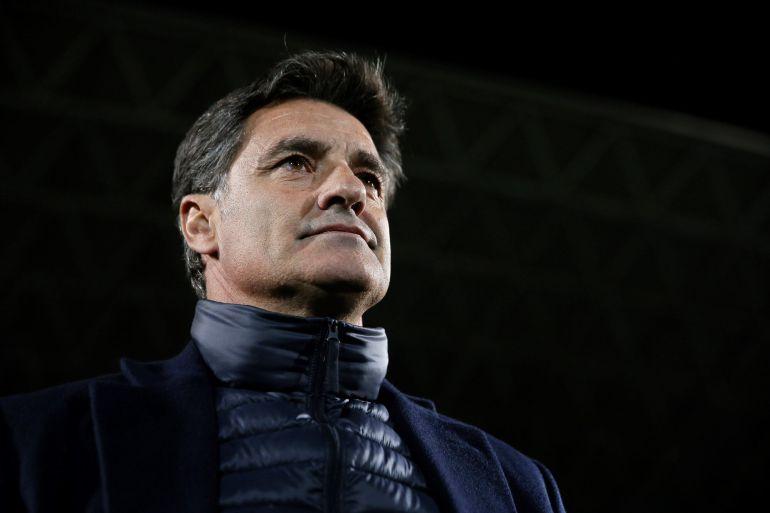 """El entrenador del Málaga, José Miguel González """"Míchel"""", en el partido ante el Getafe, de la decimonovena jornada de liga en Primera División que se disputa esta noche en el Coliseo Alfonso Pérez"""