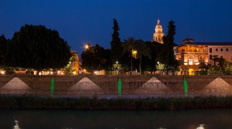El tramo urbano del río Segura inaugurará nueva iluminación en primavera
