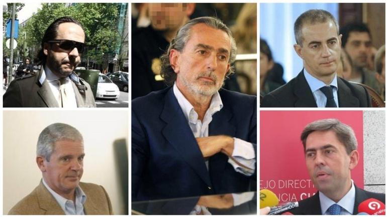 Algunos de los implicados en la rama valenciana del Caso Gürtel