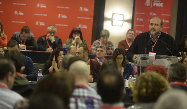 José Luis Martínez Guijarro, durante su última intervención como secretario general del PSOE