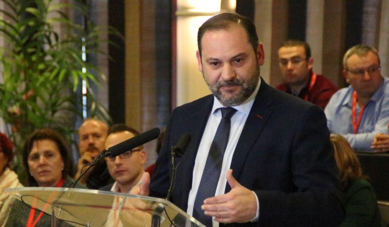 Ábalos durante su intervención en el 13º Congreso Provincial del PSOE de Cuenca