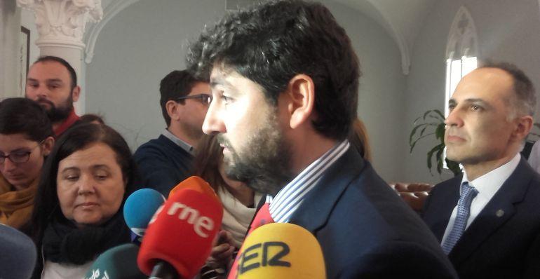 """López Miras: """"El partido que yo presido no paga lavados de imagen de nadie"""""""