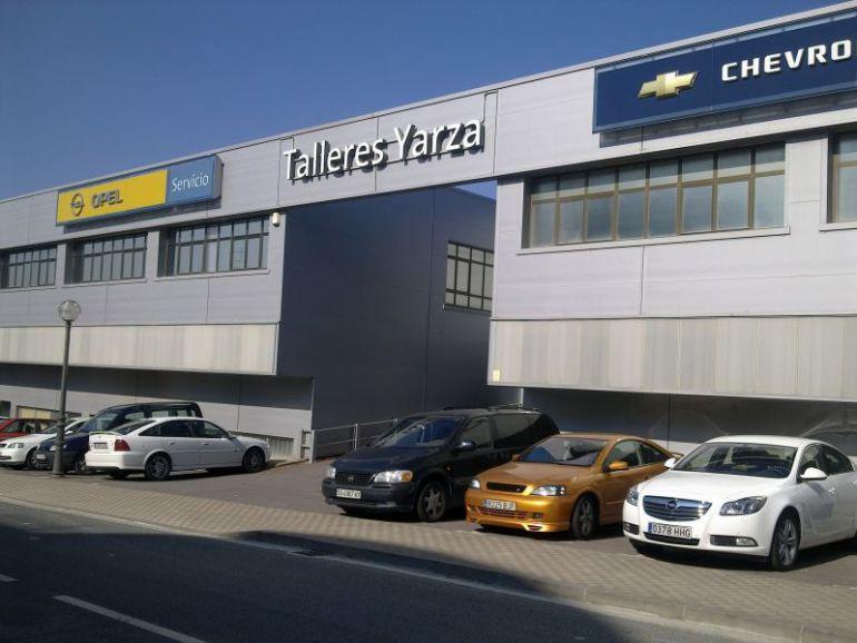 Imagen de los talleres Yarza de la marca OPEL, ubicado en el Alto de Arretxe