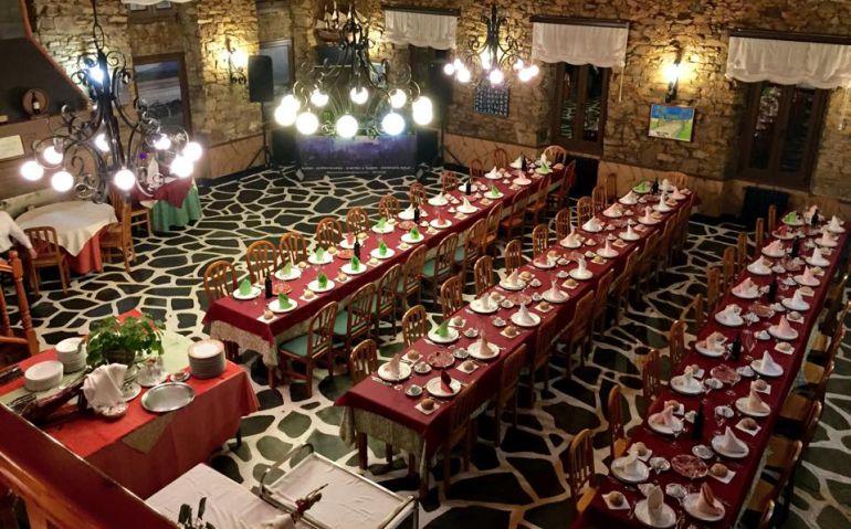 Una sala del restaurante Xoíña, en Foz