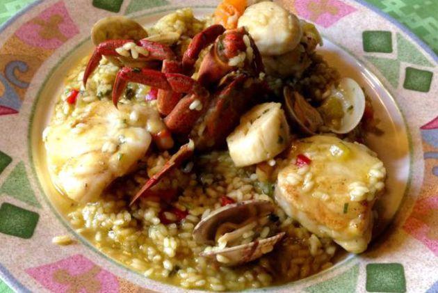 Un plato del Restaurante Xoíña, en Foz