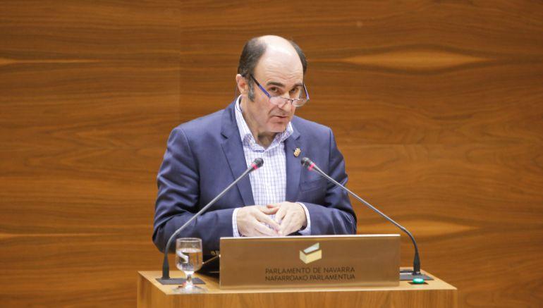 El vicepresidente de Desarrollo Económico del Gobierno de Navarra, Manu Ayerdi