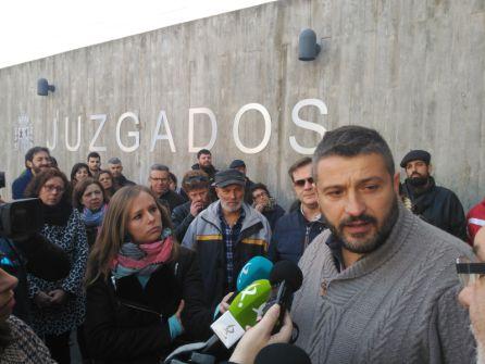 Alberto Cañedo tras pasar por los juzgados placentinos