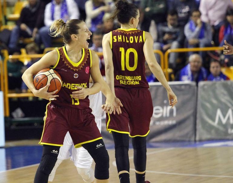 Imagen de Sandra Ygueravide correspondiente al partido de ida entre ambos equipos.