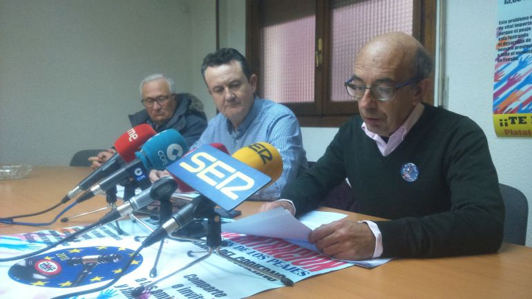 Julio Huerta, portavoz de la Plataforma, pide a los abulenes que participen en la concentración