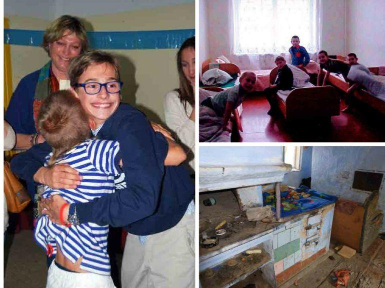 Niños acogidos en España y en orfanatos y viviendas ucranianas