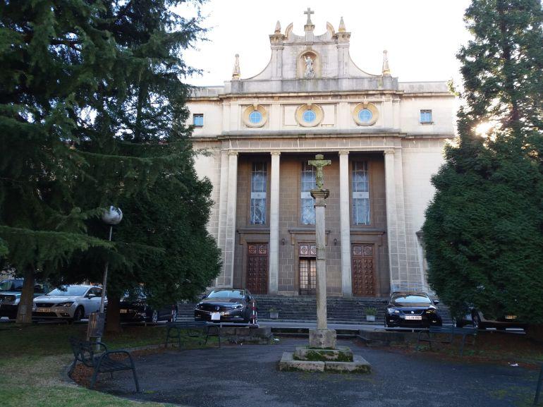 Seminario de Oviedo donde el arzobispo Jesus Sanz Montes ha oficiado la misa conmemorativa de la festividad de Santo Tomás de Aquino.