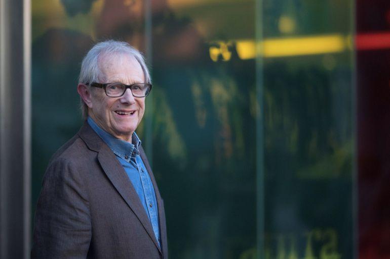 El director de cine británico, Ken Loach, hoy en Barcelona