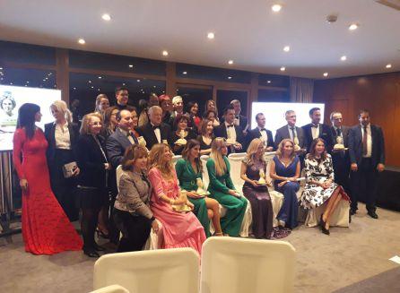 Alberto Fasán en la foto de familia con el resto de galardonados