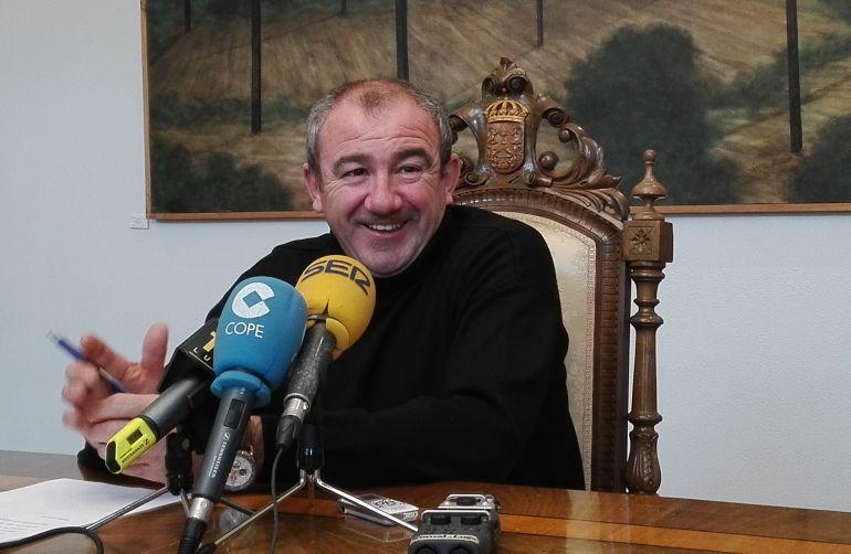 El presidente de la Diputación de Lugo, Darío Campos, este viernes tras la junta de gobierno