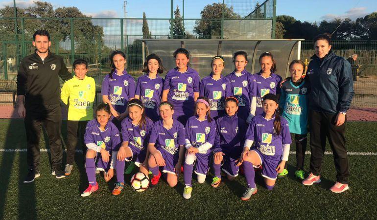 Selección alevín femenina de Jaén en el Campeonato de Andalucía