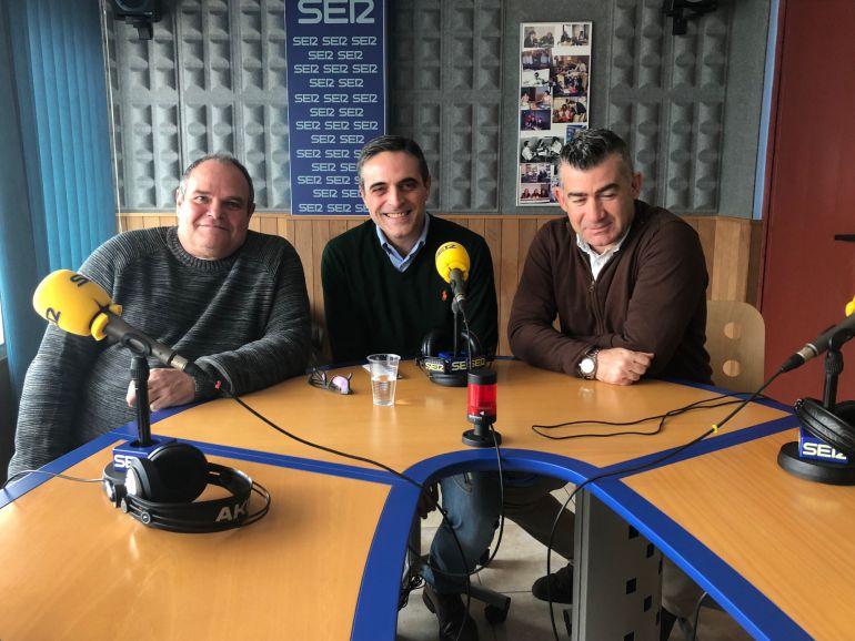 Aitor Morrás, José Vicente Marí Bosó y Julián Aguilar