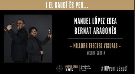 Premio Gaudí a los mejores efectos visuales