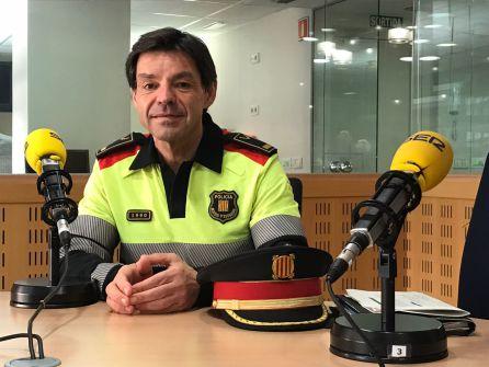 Joan Costa, cap dels Mossos de Trànsit, durant l'entrevista a Ràdio Girona