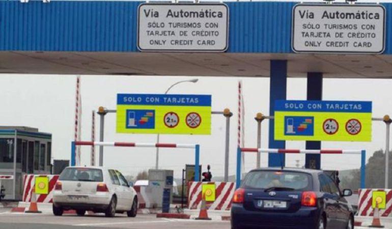 Imagen del peaje de la autopista Sevilla-Cádiz
