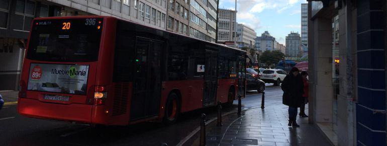 Autobus urbano, A Coruña