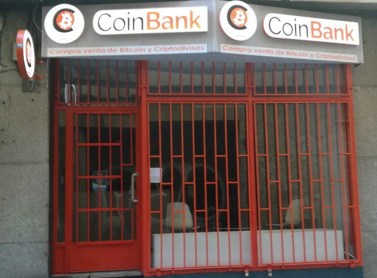 Imagen de una sucursal de intercambio de bitcoin en Salamanca.
