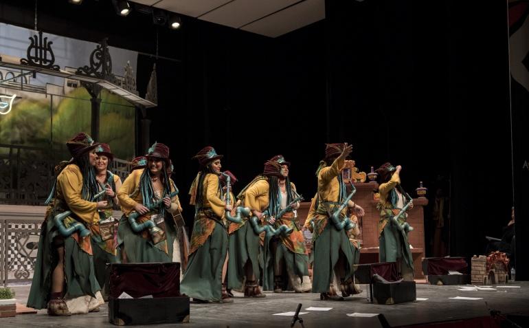 Murga: Las Chimixurris en la tercera semifinal del COMBA 2018