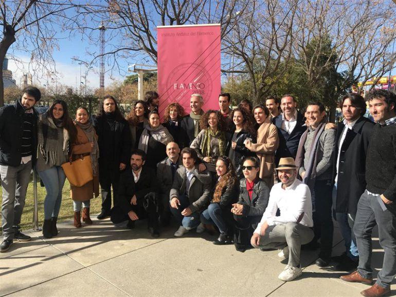 """Presentación del ciclo """"Flamenco vien del Sur"""" con los artistas participantes"""