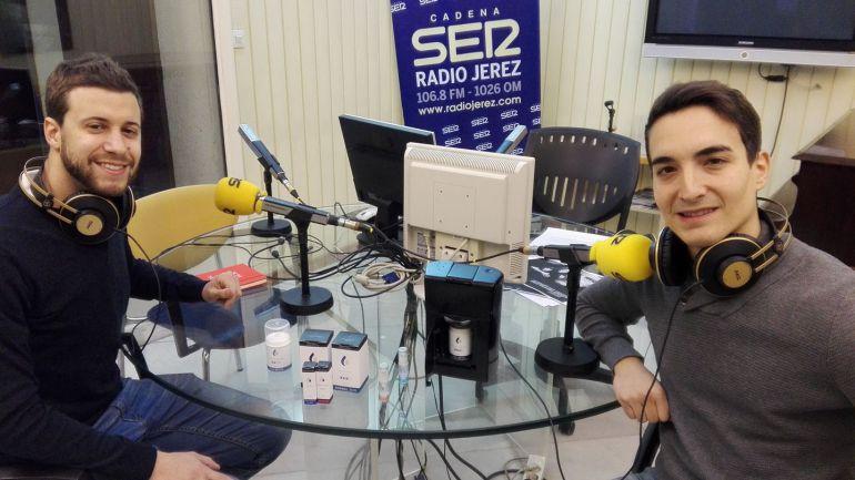 Alberto Portillo y Rubén Rubiales, de Lesielle Cosmetics, en Radio Jerez con sus productos revolucionarios