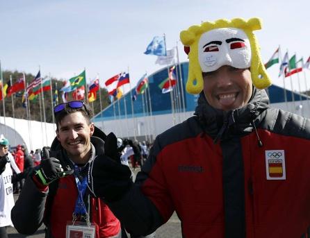 Jesús Pérez con Imanol Rojo, deportista de la selección de España en Korea del Sur