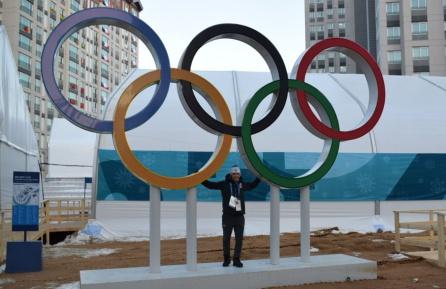 Jesús Pérez Brocal en la Villa Olímpica