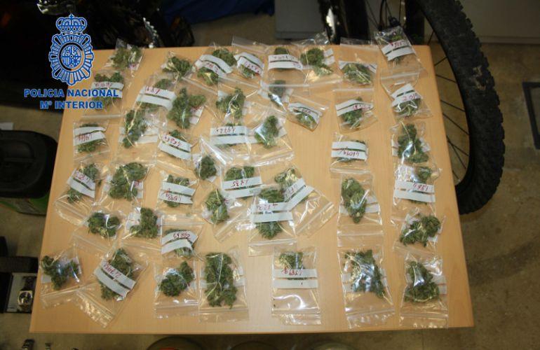 Parte de la marihuana intervenida en Plasencia