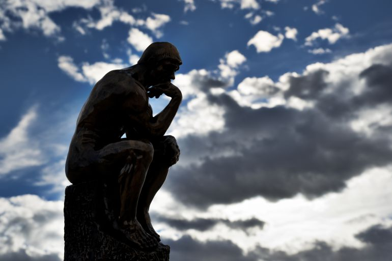 Réplica de El pensador, de Auguste Rodin