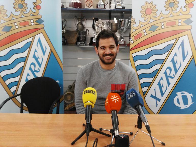 José María Barragán, durante la rueda de prensa del viernes