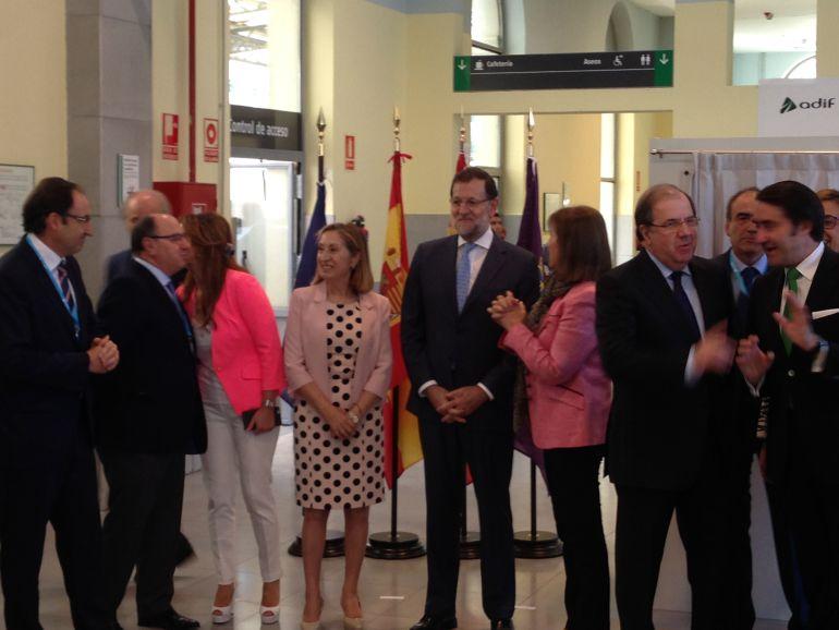 Última visita de Mariano Rajoy a Palencia con motivo del viaje inaugural del AVE en 2015