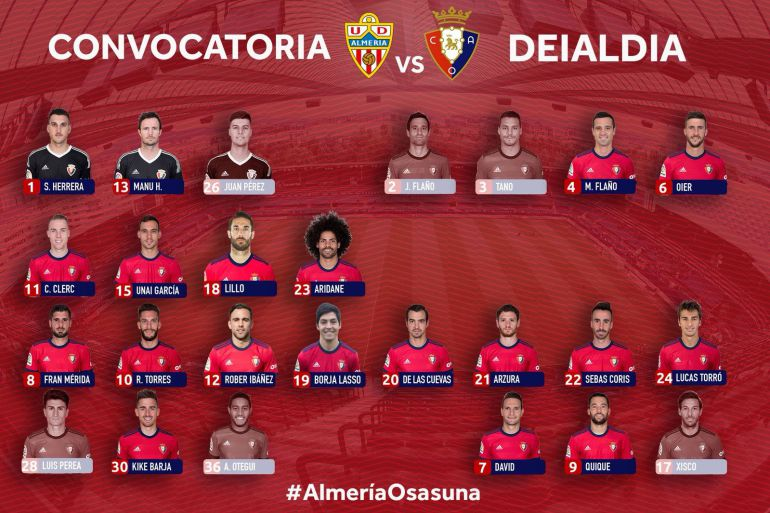 2 cambios en Osasuna para Almería