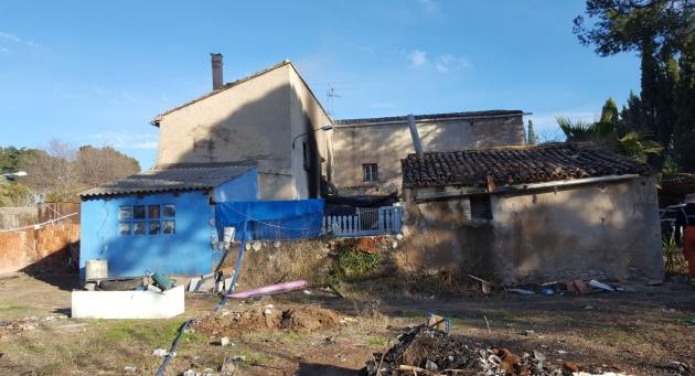 Estado de la vivienda después del incendio