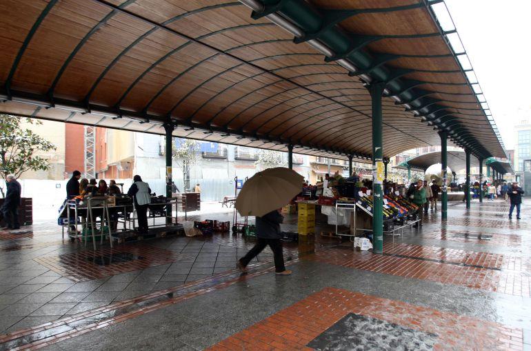 El mercado de la Plaza de España bajo mínimos