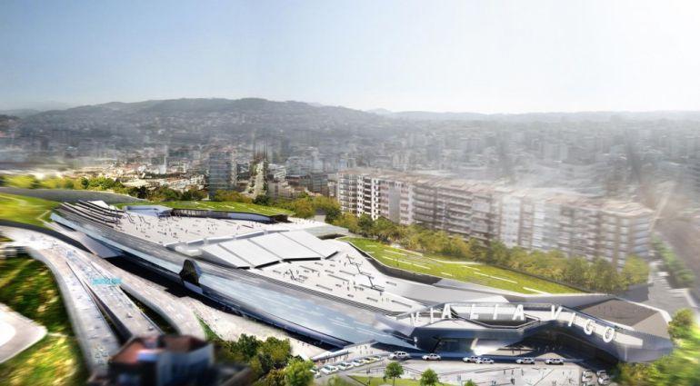 Imagen del proyecto diseñado por el arquitecto Thom Mayne para la estación Vialia de Vigo