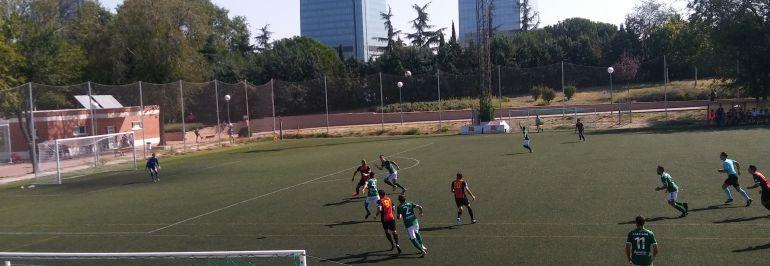 Imagen del partido de ida disputado en Madrid